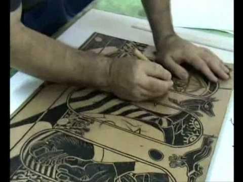 Acompanhe passo a passo como se faz uma gravura