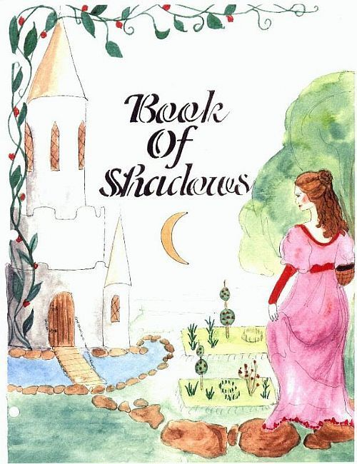Book Of Shadows Cover Art : Art book of shadows cover page by artist kelly fillion