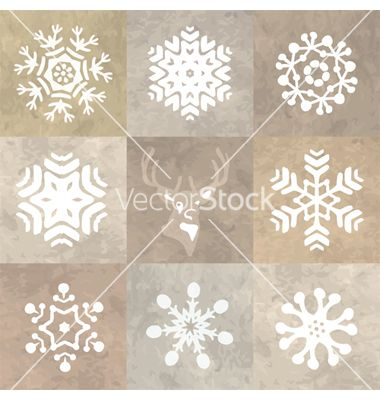 Snowflake pattern vector - by teiteosia on VectorStock®