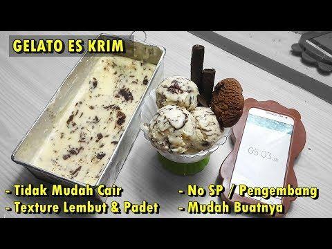 Cara Membuat Es Krim Gelato Italia Lembut Padat Resep Gelato Youtube Es Krim Ide Makanan Resep Es Krim