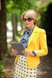 Terno amarelo, look lindo e moderno!!
