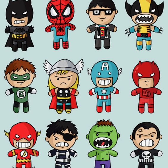 Cute Superheroes Drawing And Whatnot