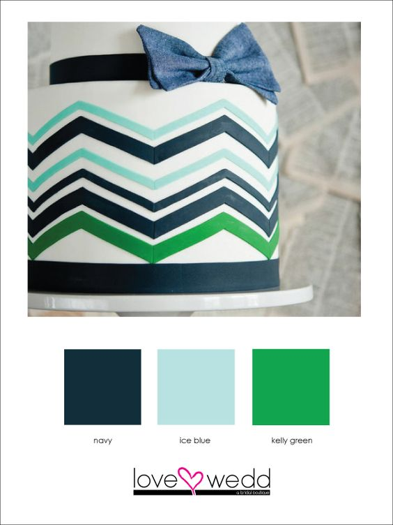 navy, light blue, green #color palette #wedding