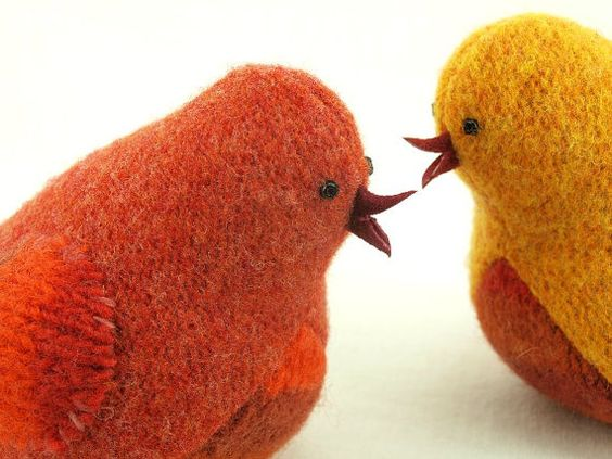 ECO FRIENDLY RECYCLED WOOL BIRDS
