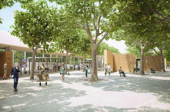 Perspective d'étude architecturale - Gare routière d'Aix-en-provence