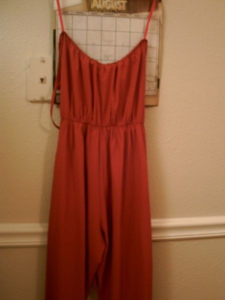Colorblind Red sleeveless Size S Jumpsuit #ColorBlind #Jumpsuit