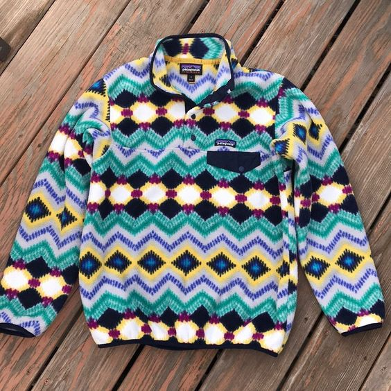 Patagonia Synchilla Snap T Fleece Sweater Jacket Women S Size Small Fits A Small Or Medium Colo Jackets For Women Patagonia Fleece Jacket Printed Sweatshirts