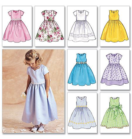 B3350 | Children's/Girls' Dress | Children/Girls/Boys | Butterick Patterns @Gwen Millwood