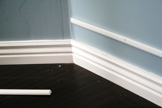 Add height to existing baseboard by attaching narrow strip Baseboard height