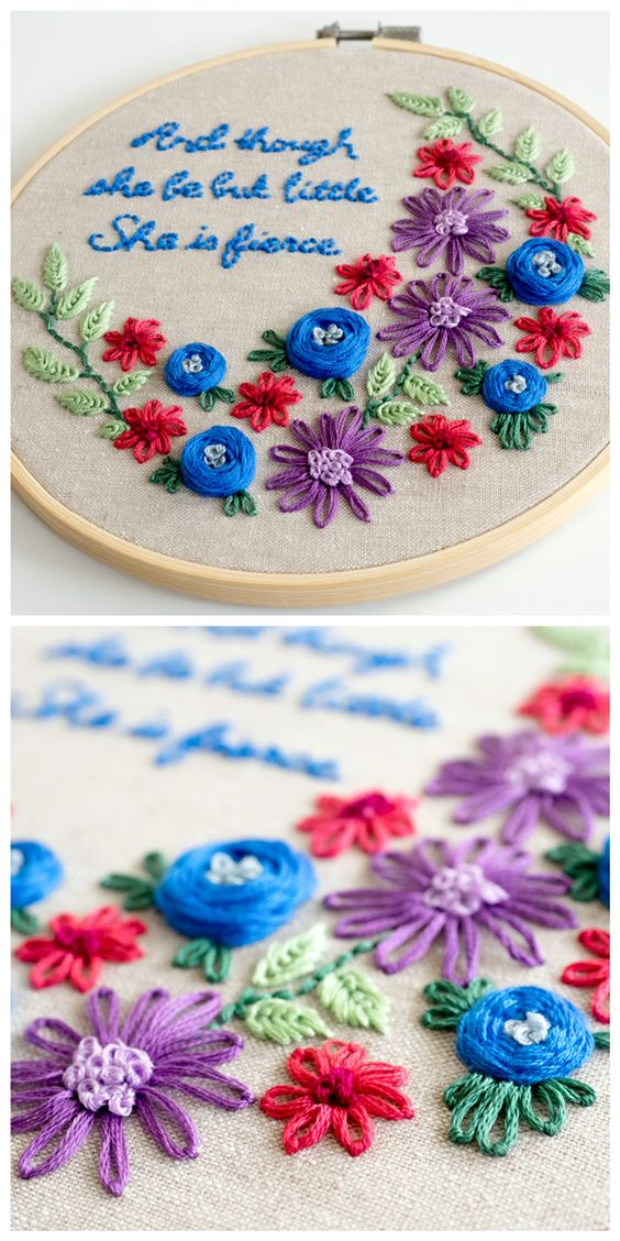 Learn how to embroider simple but pretty designs design