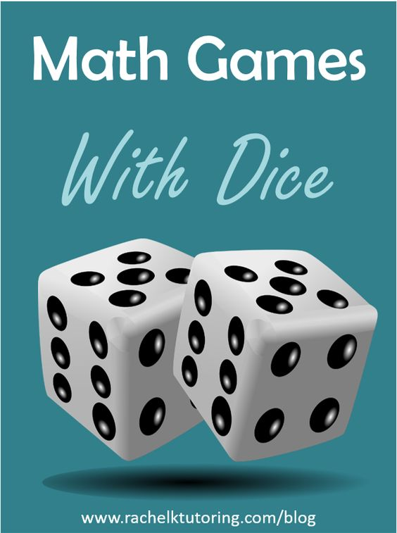 Kids will love these math games with dice! Using dice for math can make a boring worksheet come alive.