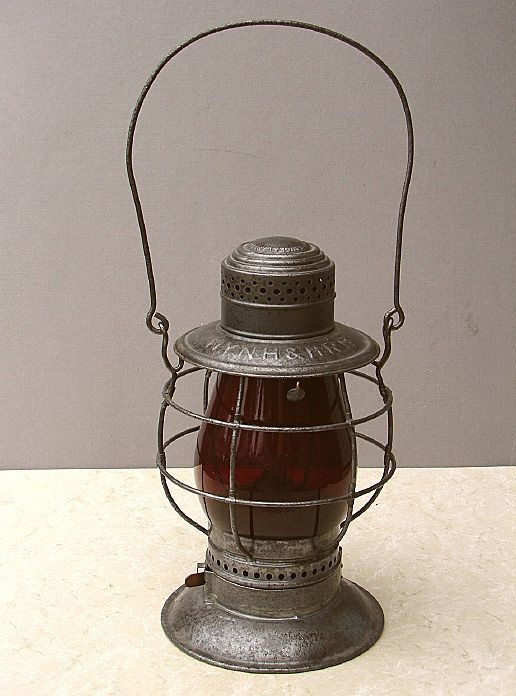 Scarce Tall Bell Bottom Steam Gauge New Haven Railroad Lantern