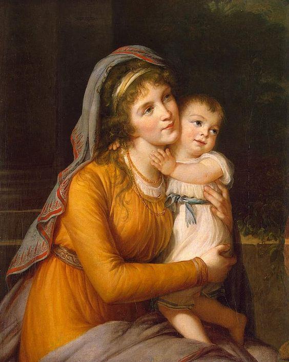 Louise Élisabeth Vigée Le Brun (French, 1755-1842) Portrait of Countess Anna Stroganova with Her Son: