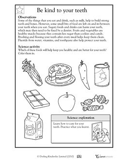 Printables 2nd Grade Health Worksheets kindergarten a website and teeth on pinterest be kind to your worksheets activities greatschools