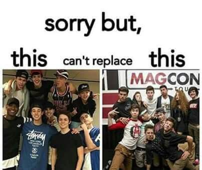 New magcon vs. Old magcon. As much as I love the new magcon, it really cant replace the old one