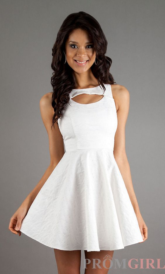 Short High Neck Dresses- XOXO Graduation Party Dresses- PromGirl ...