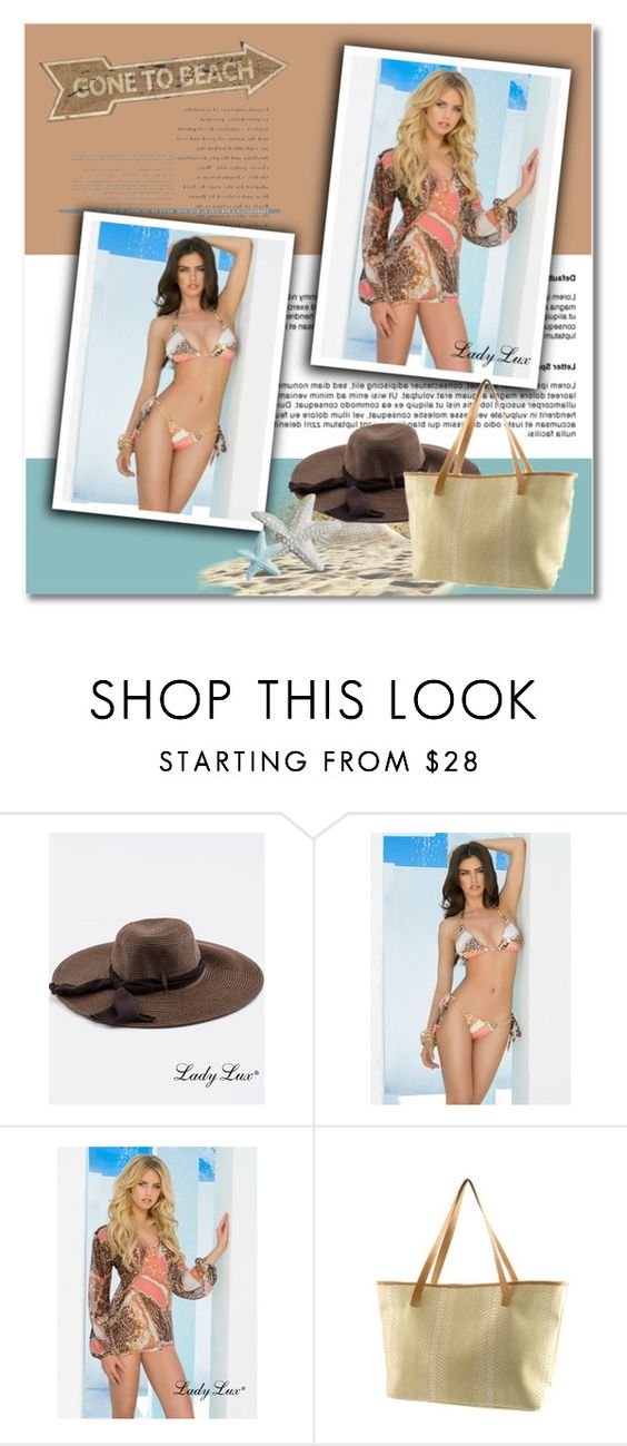 """""""Gone to beach with LadyLuxSwimwear"""" by ladyluxswimwear ❤ liked on Polyvore featuring Universal Lighting and Decor"""