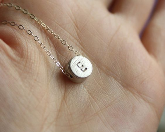 Custom reversible Initial necklace in Sterling by PTInspires, $26.00