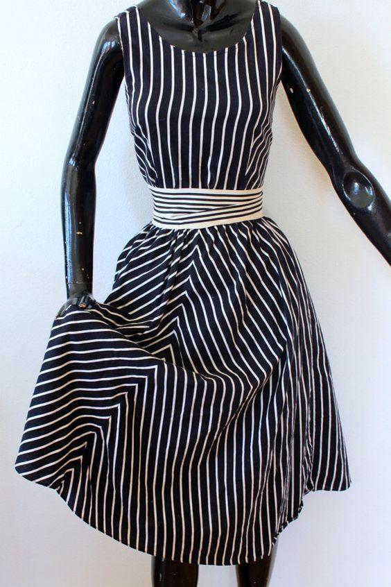 1980's Asymmetrical Summer Dress