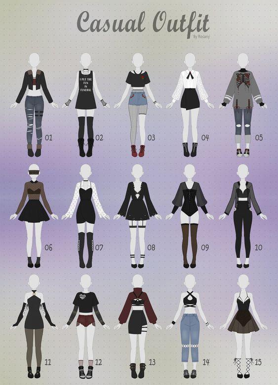 Usaria Todas Art Clothes Fashion Design Sketches Anime Outfits