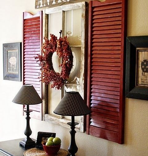 Entry way idea...change wreath with the seasons