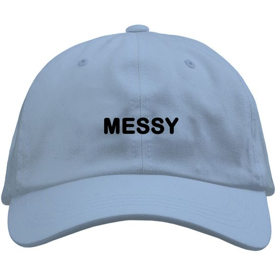 Messy Cap ($5) ❤ liked on Polyvore featuring accessories, hats and cap hats