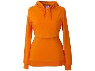 Kapuzen-Stillshirt von boob, orange, Gr.S (34/36) - Praktische Stillkleidung mit Double-Layer-Schichten