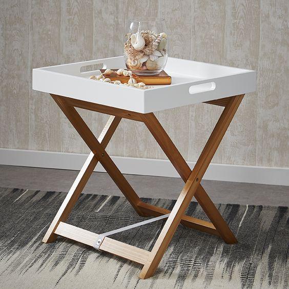 Plateau avec table amovible