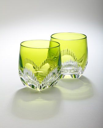 """From Waterford. Crafted of crystal. Hand wash. Sold as set of two; each, 2.5""""Dia x 3.25""""T. Imported."""