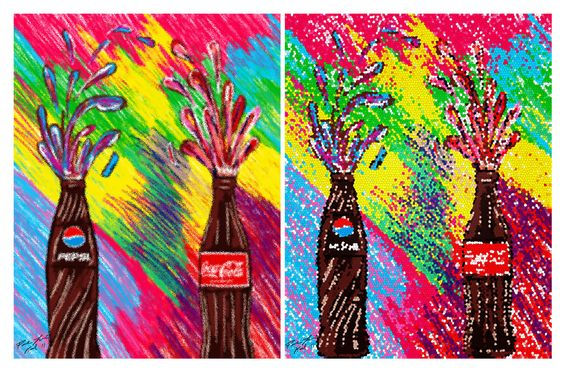 Pepsi vs Coca digital painting