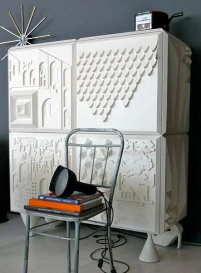 Storage units 3d and printed on pinterest for Furniture 3d printing