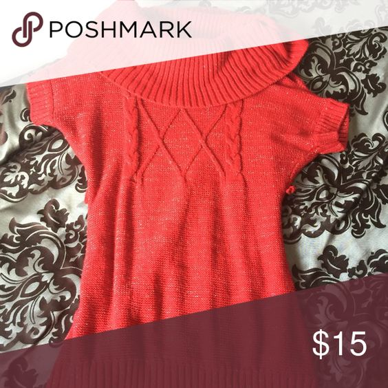 L.E.I Red Sweater Beautiful and Comfortable Sweater. I only wore this once for Christmas and I moved to California. It has just been sitting in my closet. Perfect condition. Great for winter and looks so cute with leggings! lei Sweaters Cowl & Turtlenecks