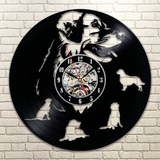 Labrador Retriever Dog Gift For Adults Animal Art Nature Wall Clock Vintage Vinyl Record Clock Retro Lp Clock Dogs Gift Party Decorations Relogios