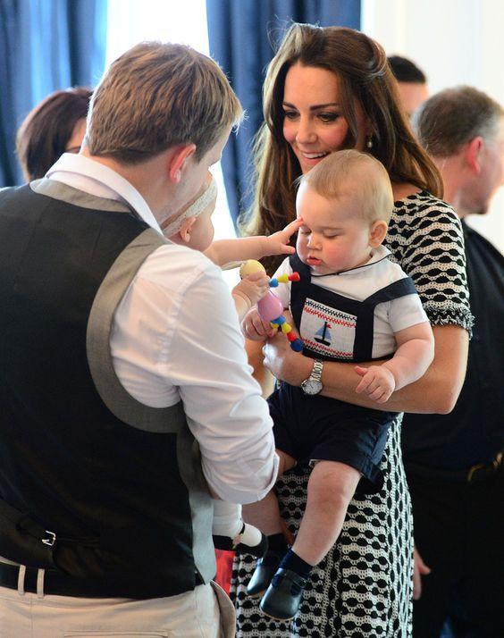 4/9/2014: The Royal New Zealand Plunket Society Parent's Group at Government House, with David Alve, Eden Alve, & Prince George (Wellington, New Zealand)
