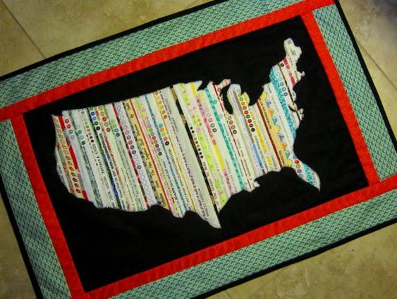 USA Selvage Silhouette Quilt Pattern from Quilts by Elena Selvages