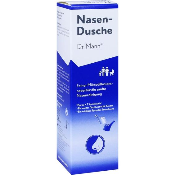 NASENDUSCHE Dr.Mann:   Packungsinhalt: 100 ml Spüllösung PZN: 10527317 Hersteller: Dr. Gerhard Mann GmbH Preis: 6,07 EUR inkl. 19 % MwSt.…