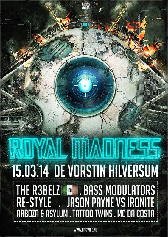 NRG-Vibe The Royal Madness De vorstin - Hilversum 15 maart 2014