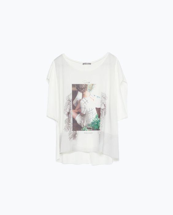 GIRL PRINT T - SHIRT - View all - T - shirts - WOMAN - SALE | ZARA United States