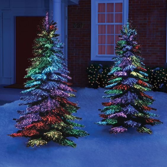 Optic Fibre Christmas Trees
