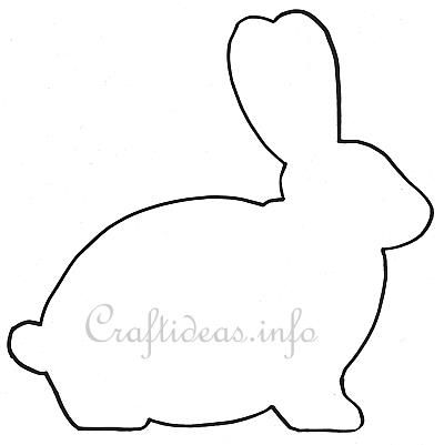 Easter template easter bunny shape for a wooden easter for Bunny template for sewing