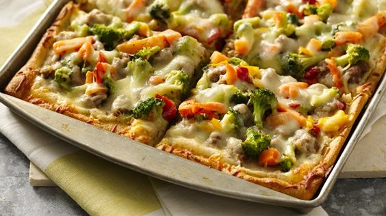 White Bean Sausage and Veggie Pizza | Recipe | Veggie Pizza, White ...