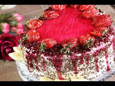 اروع و اسهل طريقتين لعمل كيكة عيد الحب افضل من الجاهز مع رباح محمد Youtube Eid Food Dessert Recipes Cake Desserts