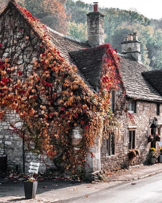 Cottages En Automne Le Cottage De Gwladys Paysage Automne Les Plus Beaux Paysages Campagne Anglaise