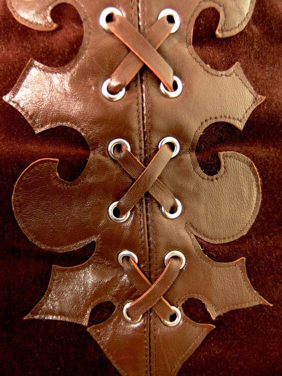 HUZZAR DESIGN 70s Style Chocolate Velvet Hotpants with Medieval Applique Detail  https://www.etsy.com/uk/listing/232896771/huzzar-design-70s-style-chocolate-velvet?ref=listing-shop-header-0