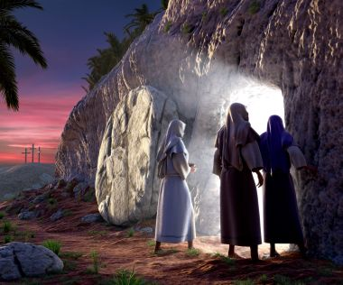 """There was a violent earthquake, for an angel of the Lord came down from heaven and, going to the tomb, rolled back the stone and sat on it. His appearance was like lightning, and his clothes were white as snow. The guards were so afraid of him that they shook and became as dead men."""" Matthew 28:2-4"""