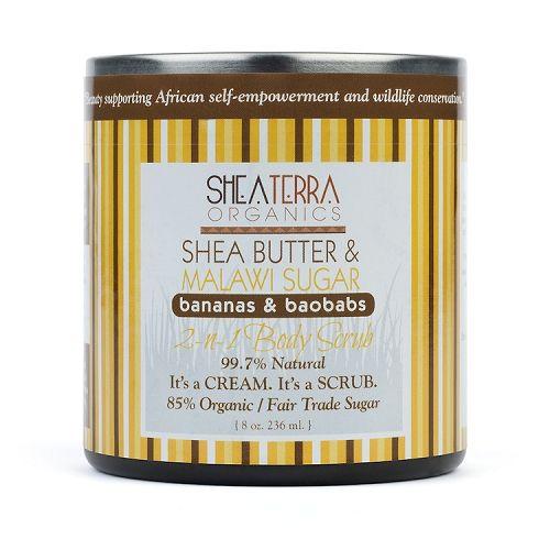 Sheaterra Organics, Shea Butter & Malawi Sugar 2-n-1 Body Scrub Bananas & Baobas - Brooklyn Groove