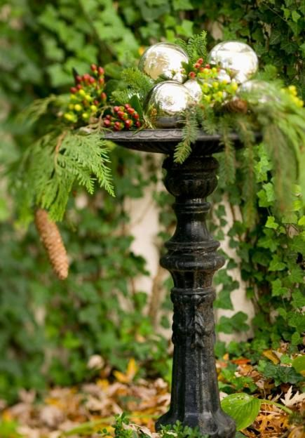 Decorate the birdbath