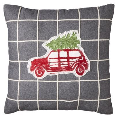 Target Decorative Christmas Pillows : Threshold Car with Tree Decorative Pillow - 18x18