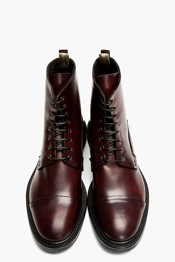 Burgundy Leather Bowling Boots.