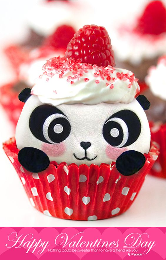 Something Sweet just for you Valentine cupcake www.lilpanda.com: